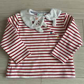 センスオブワンダー(sense of wonder)のbaby chree ねこ衿 ボーダー プルオーバー 100cm(Tシャツ/カットソー)
