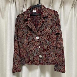 ジーナシス(JEANASIS)の古着 刺繍柄ジャケット(Gジャン/デニムジャケット)