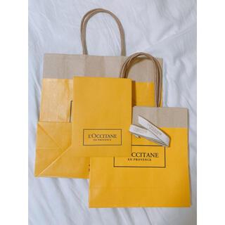 ロクシタン(L'OCCITANE)のL'OCCITANE ショッパー4枚+リボン(ショップ袋)