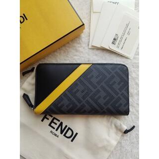フェンディ(FENDI)のFENDI フェンディ FFロゴ ファブリック ジップ 長財布(長財布)