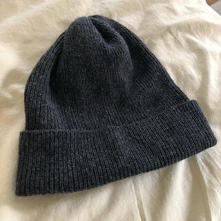 ムジルシリョウヒン(MUJI (無印良品))の無印 グレー ニットキャップ(ニット帽/ビーニー)