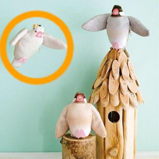 フェリシモ(FELISSIMO)の【フェリシモ】シュルッと羽ばたいてお手伝いブンチョウ キーホルダー 白文鳥(キーホルダー)