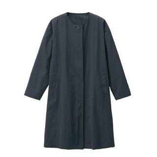 ムジルシリョウヒン(MUJI (無印良品))の新品 無印良品 ノーカラーコート(ロングコート)