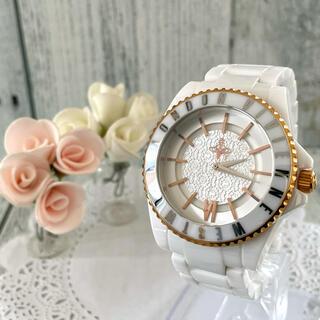 ヴィヴィアンウエストウッド(Vivienne Westwood)の【美品】vivienne ヴィヴィアン 腕時計 セラミック メンズ(腕時計(アナログ))