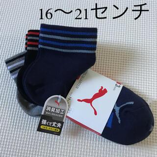 プーマ(PUMA)の【未使用】男の子 靴下 PUMA  3足 19〜21センチ(靴下/タイツ)