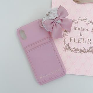 Maison de FLEUR - 【美品】♡メゾンドフルール♡チャーム付きアイフォンケース♡ピンク♡