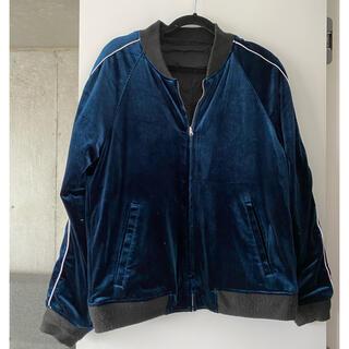 リバーシブル ベロア ジャケット 刺繍 MA1 (ブルゾン)