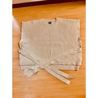 メルロー(merlot)の袖なしベスト フリーサイズ(ベスト/ジレ)