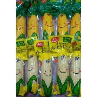 北海道産 白いとうもろこし5本/黄色いとうもろこし5本(レトルトパック)(野菜)