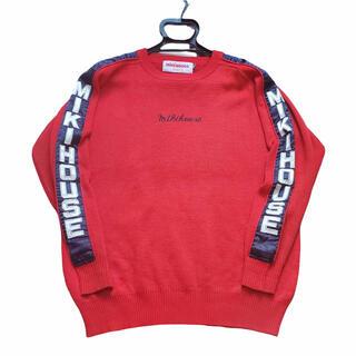 ミキハウス(mikihouse)のmikihouse 希少 刺繍 ロゴ ミキハウス スウェット 赤 ロゴ 90s(スウェット)