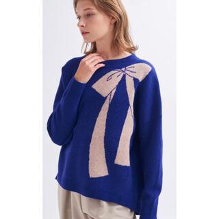 ランバンオンブルー(LANVIN en Bleu)のランバンオンブルー リボン(ニット/セーター)