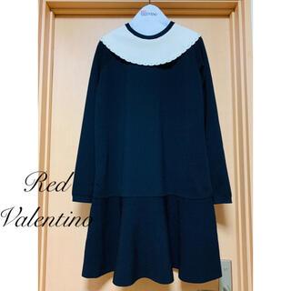レッドヴァレンティノ(RED VALENTINO)のMOM様ご専用 RED VALENTINO♡ 白襟長袖ニットワンピース(ひざ丈ワンピース)