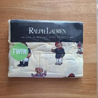 ラルフローレン(Ralph Lauren)のラルフローレン ポロベア イエロー シーツ 新品未開封(シーツ/カバー)