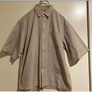 アダムエロぺ(Adam et Rope')の半袖シャツ アダムエロペ ストライプシャツ グレー(シャツ)