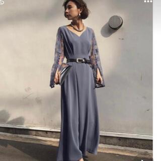 アメリヴィンテージ(Ameri VINTAGE)のアメリヴィンテージ LACE SLEEVE REFINED DRESS (ロングドレス)