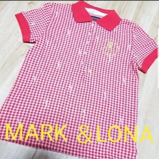 マークアンドロナ(MARK&LONA)の《秋冬》MARK &LONA ゴルフウエア レディース シャツ 半袖 S(ウエア)