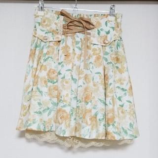 アクシーズファム(axes femme)のアクシーズ 花柄 スカート(ミニスカート)