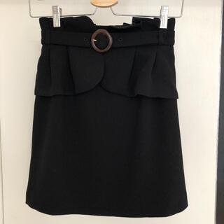 リリーブラウン(Lily Brown)の値下げ☆リリーブラウン 黒スカート 着脱可 可愛い(ミニスカート)