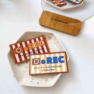 "【sale】stripe rec magnet ""yellow""(外出用品)"