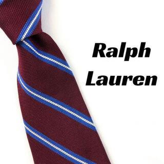 ポロラルフローレン(POLO RALPH LAUREN)の【2029】美品!ラルフローレン ネクタイ ストライプ レッド系(ネクタイ)