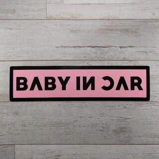 BABY IN CARマグネットステッカーブラックピンクBLACK PINK韓国(車外アクセサリ)