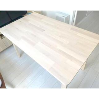 IKEA - IKEA NORRAKER ダイニングテーブル ホワイト バーチ