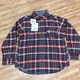 ミキハウス(mikihouse)のミキハウス リバーシブルチェックシャツ 110cm 新品(ブラウス)