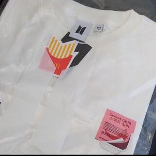 ボウダンショウネンダン(防弾少年団(BTS))のBTS マクドナルド コラボ Tシャツ 白 半袖 Lサイズ 公式 新品、未開封(Tシャツ/カットソー(半袖/袖なし))