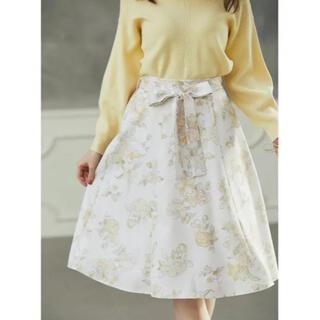 トッコ(tocco)の着るだけで可愛い花柄リボンスカート♡大人可愛いお上品な花柄デザイン♡(ひざ丈スカート)