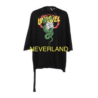 リックオウエンス(Rick Owens)の『新品』 アンレーベルプロジェクト 穴あき加工 ビッグTシャツ(Tシャツ/カットソー(半袖/袖なし))