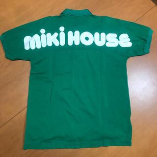 ミキハウス(mikihouse)の【mikiHOUSE】ミキハウス プリントロゴ ポロシャツ レトロ グリーン(ポロシャツ)
