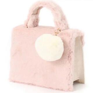 リリーブラウン(Lily Brown)のLily Brown リリーブラウン ポンポン付もこもこバッグ ピンク(ショルダーバッグ)