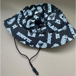 エクストララージ(XLARGE)のエクストララージキッズ OGゴリラ×ロゴランダム総柄プリントハット黒(帽子)