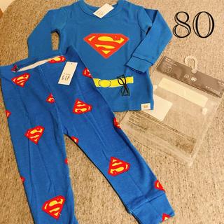 ベビーギャップ(babyGAP)の80サイズ 新品未使用⭐︎baby gap スーパーマン 長袖パジャマ(パジャマ)