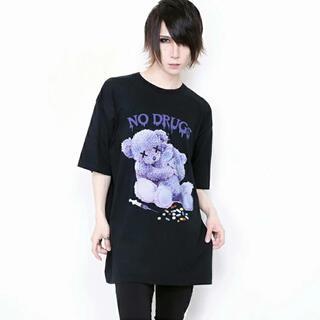 ミルクボーイ(MILKBOY)のWRouge NO! DRUG! Message Bear BIG Tシャツ (Tシャツ/カットソー(半袖/袖なし))