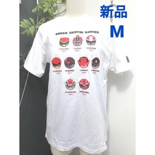 バンダイ(BANDAI)の新品 メンズ M 白 戦隊ヒーロー Tシャツ(Tシャツ/カットソー(半袖/袖なし))