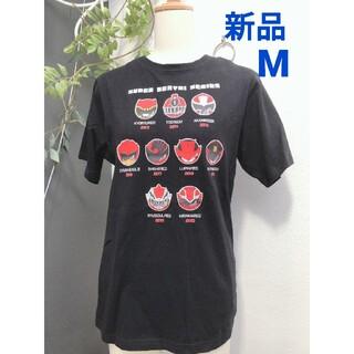 バンダイ(BANDAI)の新品 メンズ M 黒 戦隊ヒーロー Tシャツ(Tシャツ/カットソー(半袖/袖なし))