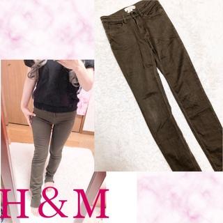 エイチアンドエム(H&M)の42075.H&M カーキ スキニーパンツ ストレッチ 伸縮性抜群(スキニーパンツ)