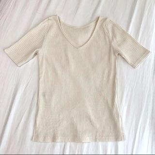 TOMORROWLAND - 新品未使用‼️デミルクスビームス リブニット Tシャツ カットソー トップス