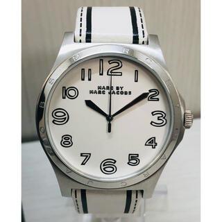 マークバイマークジェイコブス(MARC BY MARC JACOBS)のマークバイマークジェイコブス アナログ腕時計 メンズ ホワイト 本革ベルト(腕時計(アナログ))