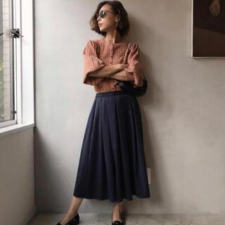 アメリヴィンテージ(Ameri VINTAGE)のアメリ ネイビースカート(ひざ丈スカート)