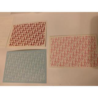 ディオール(Dior)のDIORネイルシール③ピンク、赤、ホワイト ロゴ文字(ネイル用品)