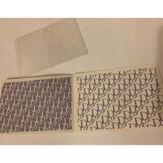 ディオール(Dior)のDIORネイルシール④ラベンダーシルバーグレー系2枚(ネイル用品)