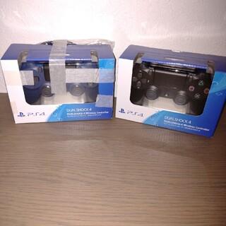 PS4 ワイヤレスコントローラー 純正 ジェットブラック ミッドナイトブルー(その他)