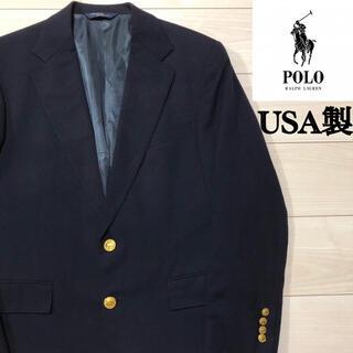 USA製 POLO RALPHLAUREN 紺ブレ 金ボタン ブレザー ネイビー