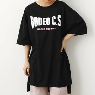ロデオクラウンズワイドボウル(RODEO CROWNS WIDE BOWL)のRCWB  WARPロゴワンピース(ひざ丈ワンピース)