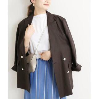 イエナ(IENA)のIENA リネンダブル4Bジャケット ブラック(テーラードジャケット)