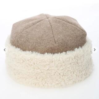 サマンサモスモス(SM2)のサマンサモスモス メルトンボアコンビワッチ ベージュ(ニット帽/ビーニー)