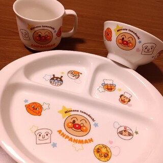 アンパンマン(アンパンマン)のアンパンマン ランチプレート&お茶碗 セット(プレート/茶碗)