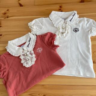 アクシーズファム(axes femme)のaxes femme kids  ガーリーなポロシャツ サイズ110 2枚組(Tシャツ/カットソー)